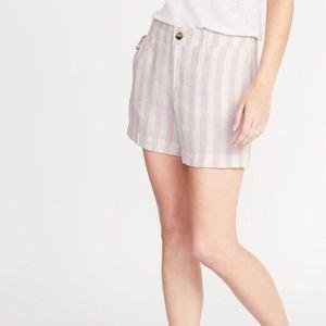 Mid-Rise Everyday Linen-Blend Shorts for Women